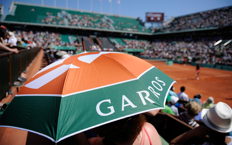 La lluvia: la estrella del torneo de Roland-Garros