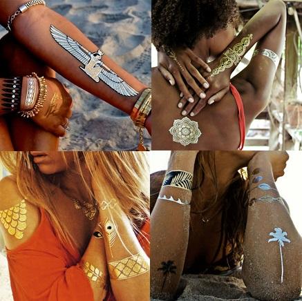 tijdelijke tattoos goud en zilver