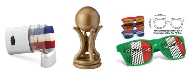 Productos promocionales para la Copa del Mundo de Fútbol